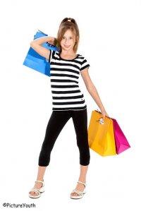 Dziewczyna na zakupach
